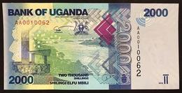 Uganda 2000 SHILLINGS 2010 UNC Pick#50 N° AA0010062    LOTTO 1783 - Uganda