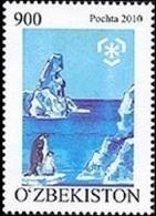 Uzbekistan, 2010, Mi. 917, Sc. 640, SG 750, Preserve The Polar Regions And Glaciers, Penguins, MNH - Preservare Le Regioni Polari E Ghiacciai