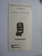 """Pieghevole """"GIFFONI FILM FESTIVAL 15 Edizione  27 Luglio - 4 Agosto 1985 PROGRAMMA"""" - Programmi"""