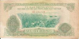 VIET NAM  SOUTH 10 DONG ND1963 VF P R7 - Vietnam