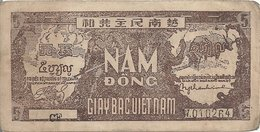 VIET NAM  5 DONG ND1948 VF P 17 - Viêt-Nam