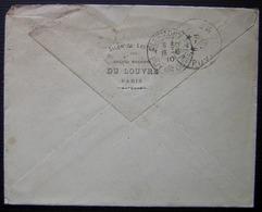 Grands Magasins Du Louvre, Salon De Lecture Paris 1910, Lettre Pour Volvic, Puy De Dôme - Postmark Collection (Covers)