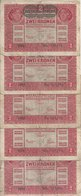 AUTRICHE 2 KRONEN 1917 VG+ P 50 ( 5 Billets ) - Oostenrijk