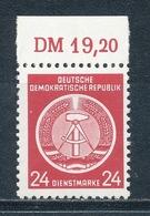 DDR Dienstmarken A 9 X XI ** Geprüft Weigelt Mi. 35,- - DDR