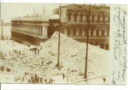 VENEZIA / CARTE PHOTO EFFONDREMENT DU CAMPANILE Le 14.07.1902 - Venezia (Venice)
