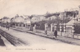 CPA 37 @ SAINT CYR Sur LOIRE - TOURS NORD - La Côte Fleurie - Rails Du Tramway - Saint-Cyr-sur-Loire