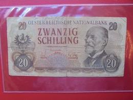 AUTRICHE 20 SCHILLING 1956 CIRCULER (B.7) - Austria