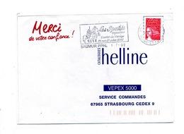 Lettre Flamme Saumur Ecurie Du Manege Spahis - Poststempel (Briefe)