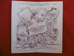 PAVILLON DE LA BRASSERIE FRANCAISE EXPOSITION UNIVERSELLE 1900  DEPLIANT - Sonstige