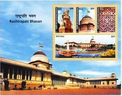 5X INDIA 2011 Rashtrapati Bhavan; Miniature Sheet, MINT - Unused Stamps