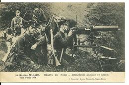 GUERRE 1914 1915 - REGION DU NORD / MITRAILLEUSE ANGLAISE EN ACTION - Non Classés