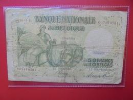 BELGIQUE 50 FRANCS 1945 CIRCULER (B.7) - 50 Francs