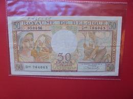 BELGIQUE 50 FRANCS 1956 CIRCULER (B.7) - [ 6] Treasury