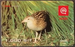 Prepaidcard Slowenien - Vogel,bird - Wachtelkönig - 12/2001 - Slovenië