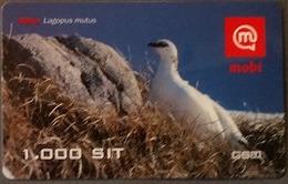 Prepaidcard Slowenien - Vogel,bird - Alpenschneehuhn - 12/2005 - Slovenië