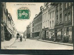 CPA - AIRE SUR LA LYS - Rue Du Bourg, Animé - Aire Sur La Lys