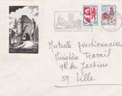 L4C453 Aisne  Secap Laon La Montagne Couronnée/Lettre 1966 - Marcophilie (Lettres)