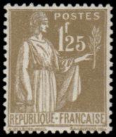 FRANCE Poste ** - 287, 1.25f. Olive Type Paix - Cote: 215 - France