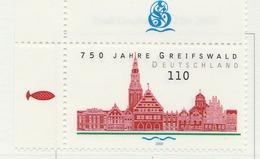 PIA - GERMANIA - 2000 :  750° Anniversario Della Città Di Greifswald - (Yv 1942) - [7] République Fédérale