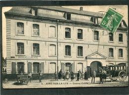 CPA - AIRE SUR LA LYS - Caserne Coislin, Animé - Attelage - Aire Sur La Lys