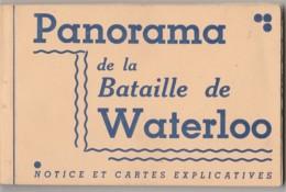 W3- PANORAMA DE LA BATAILLE DE WATERLOO - CARNET COMPLET  DE 12 CPA - GUERRE NAPOLEON  - 4 SCANS - History