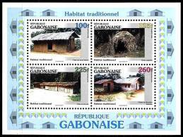 (026) Gabon / Rep Gabonaise  Habitat Sheet / Bf / Bloc Wohnungen  ** / Mnh  Michel BL 88 - Gabun (1960-...)