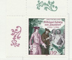 PIA - GERMANIA - 2000 :  3° Centenario Del Capo Religioso Nikolaus Ludwig Von Zinzerdof  - (Yv 1947) - [7] Repubblica Federale