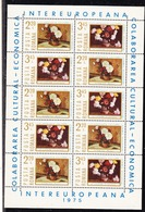 Romania 1975 Intereuropeana 2v In 1 Sheetlet ** Mnh  (44573) - Europese Gedachte