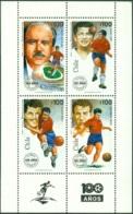 CHILE 1995 CHILEAN FOOTBALL CENTENARY SHEET OF 4** (MNH) - Chile