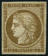 * N°1 10c Bistre, Quasi SC - TB - 1849-1850 Ceres