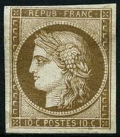 * N°1a 10c Bistre Brun - TB - 1849-1850 Cérès