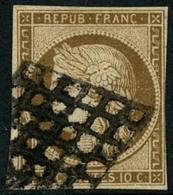 Oblit. N°1a 10c Bistre-brun, Petites Marges - B - 1849-1850 Ceres