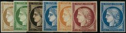** N°1F à 8F Les 7 Val - TB. - 1849-1850 Cérès