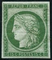 ** N°2e 15c Vert, Réimp - TB - 1849-1850 Cérès