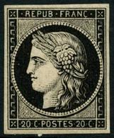 ** N°3a 20c Noir S/blanc - TB. - 1849-1850 Ceres
