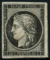 ** N°3F 20c Noir, Réimp - TB - 1849-1850 Cérès