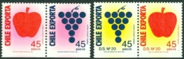 CHILE 1991 FRUIT EXPORTS SET OF 2 BOOKLET PAIRS** (MNH) - Chile