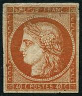 ** N°540c Orange, Inégalité D'épaisseur De Papier En Haut à Gauche, Fraicheur Postale RARE - B - 1849-1850 Ceres