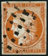 Oblit. N°5 40c Orange - TB - 1849-1850 Ceres