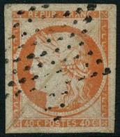Oblit. N°5 40c Orange, Obl étoile De Paris - TB - 1849-1850 Cérès