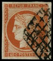 Oblit. N°5a 40c Orange Vif - TB. - 1849-1850 Cérès