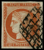 Oblit. N°5a 40c Orange Vif - TB. - 1849-1850 Ceres