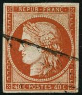 Oblit. N°5b 40c Orange Foncé - TB. - 1849-1850 Ceres