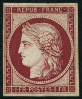 ** N°6F 1F Carmin - TB - 1849-1850 Cérès