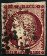 Oblit. N°6d 1F Cerise, Qualité Standard, Certif Cérès - B - 1849-1850 Cérès