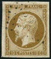 Oblit. N°9 10c Bistre, Pièce De Luxe - TB - 1852 Luis-Napoléon