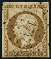 Oblit. N°9 10c Bistre, Obl PC - TB - 1852 Louis-Napoleon