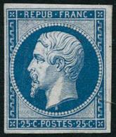 ** N°10c 25c Bleu, Réimp - TB. - 1852 Louis-Napoleon