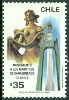 CHILE 1989 CARABINEROS POLICE FALLEN ON DUTY** (MNH) - Chile
