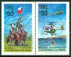 CHILE 1987 CARABINEROS PAIR** (MNH) - Chili